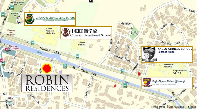 Location Map Robin Residences